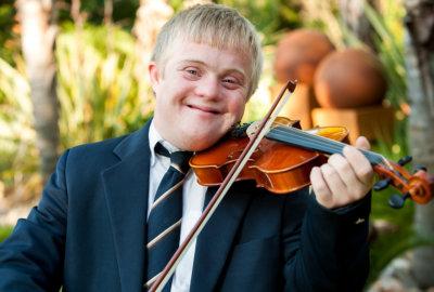 man playing violin
